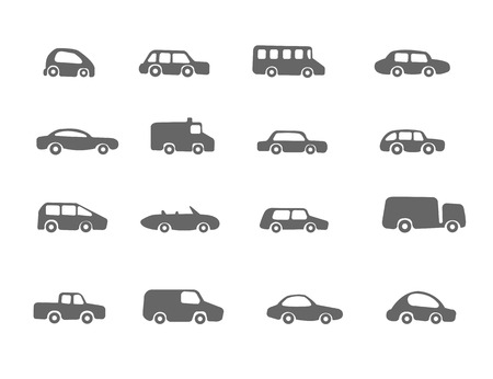 The set of different cars Vector