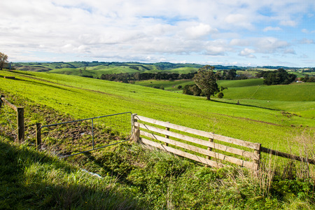 The view in the farmland Stock Photo