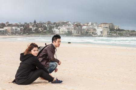 downunder: the white sand at Bondi beach