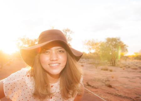 The Uluru with the blue sky