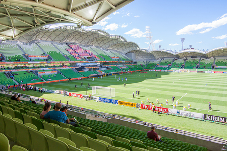 Melbourne, Australia - June 16, 2015 - Asian Cup 2015 - The Asian Cup 2015 people and the muscot at Melbourne Rectangular Stadium Challenge Cup winner v Jordan