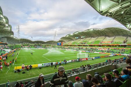 Melbourne, Australia - June 18, 2015 - AFC Asian Cup 2015 Australia - the funs of Saudi Arabia and Uzbekistan are waiting for their teams  before game starting between Uzbekistan VS Saudi Arabia in the first round at rectagular stadium on 18 June 2015