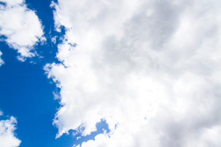 The cloud with the blue skies