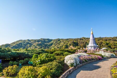 phon: The view from Methanidonnoppha stupa in Inthanon national park, Chiangmai, Thailand