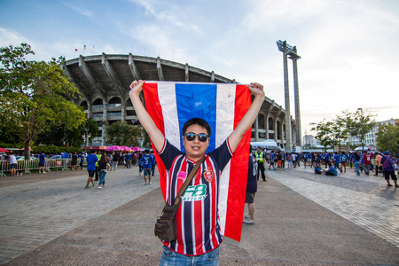 Thailand vs Vietnam FIFA World Cup Qualification AFC Group Stage 1 Sunday, May 24, 7:00 PM Rajamangala Stadium, Bangkok, Thailand-people were waiting for the football outside the stadium