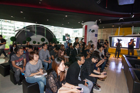 The competition of the style moving challenge, animation battle. August 4, 2015. At Siam Square One Building, Siam Square, Bangkok, Thailand. There are sporsors for this event, Kantana Insitute, TACGA, TOYOTA in the press day. Editorial