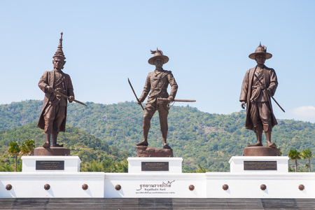 Rajabhakti Park is a historically themed park honouring past Thai kings from the Sukhothai period to the current royal house of Chakri