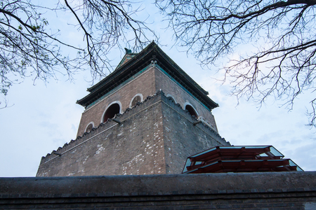 The top of Drum tower, Beijing, China