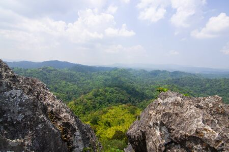 The cliff with the beautiful view in Thailand