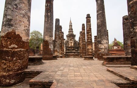 The old pagoda in Sukhothai, Thailand