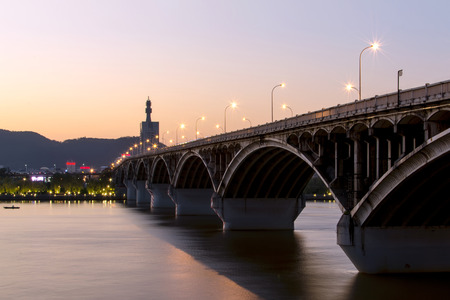 Changsha xiangjiang River Bridge Stok Fotoğraf