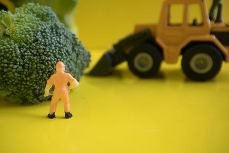 Broccoli with miniature miner