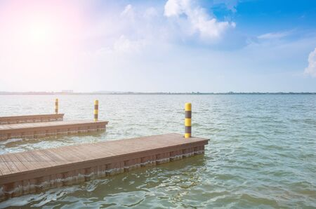 Small pier used by the lake to dock a cruise ship