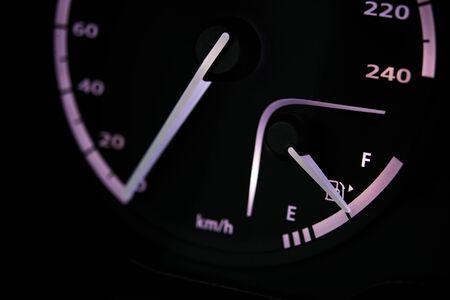 Oil meter close-up on car dashboard Stok Fotoğraf