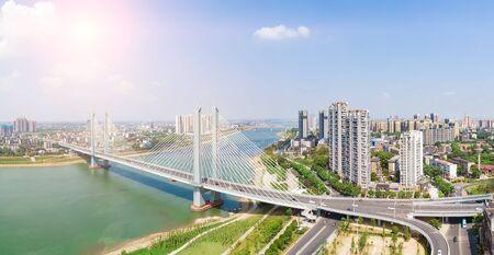 Xiliuwan Bridge, Yiyang City, Hunan Province under fine weather