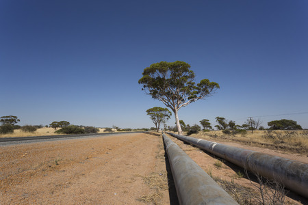 The historic pipeline from Perth to Kalgoorlie. 写真素材