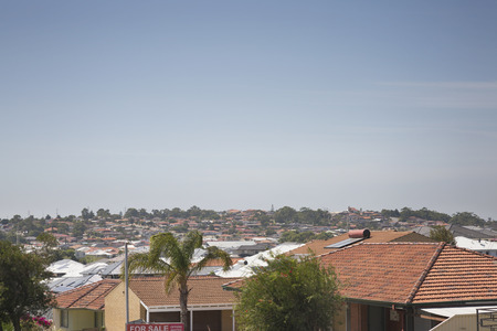 Rooftops of suburban houses typical in Australia. 写真素材