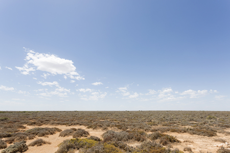 A simple image of the treeless plain called the Nullarbor by indigenous Australians.