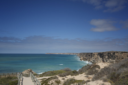 A boardwalk leading to viewing platforms for the whale migration at the Great Australian Bight.
