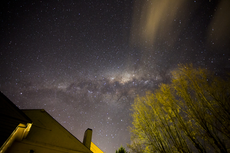 A view of the night sky from a backyard in New Norfolk in Tasmania.