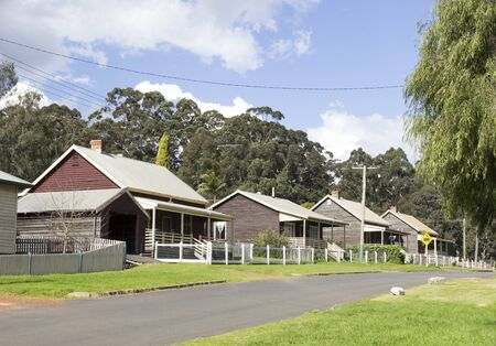 A quiet street in the Australian country town of Pemberton. Banco de Imagens