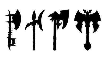 silhouettes of axes Stock Vector - 23359023