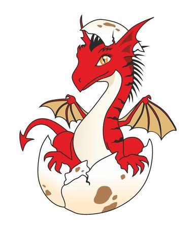 The Dragon Hatchling Illustration