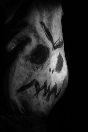 Head of the Evil Scarecrow 版權商用圖片