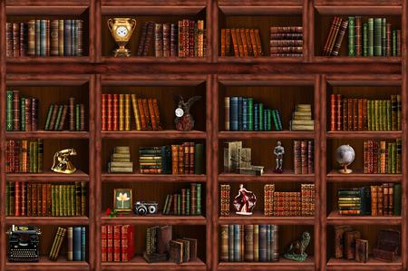 Bücherregal Standard-Bild