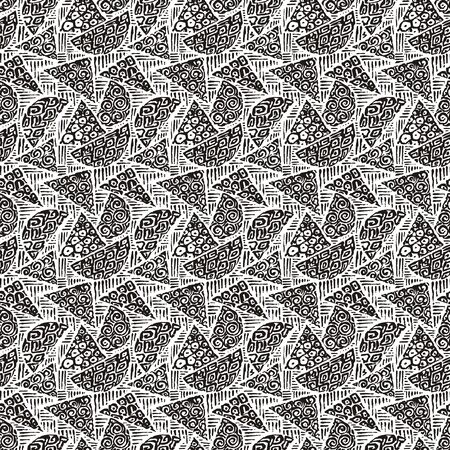 Seamless pattern or abstract pattern in one colour