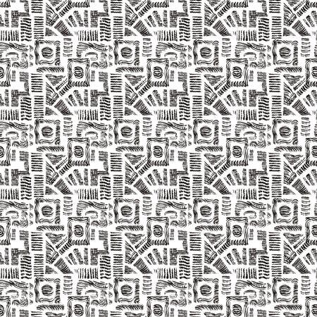 Seamless pattern or geometric  pattern in crashing motifs Ilustracja