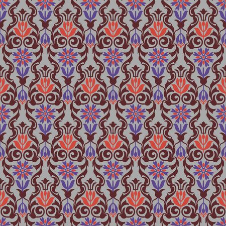 Seamless pattern or Geomatrick motif Ilustracja