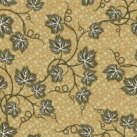 Seamless pattern or floral design in yellow background Ilustracja