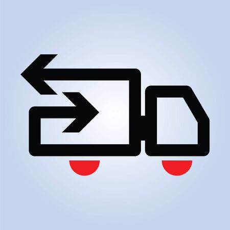 Very simplified graphic illustration for transport related use. Illustration