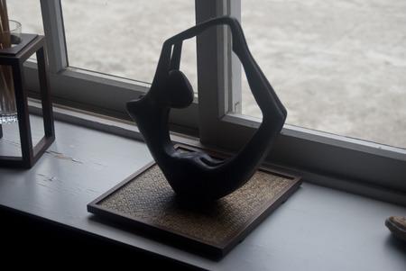 yogini: Statue of a yoga pose