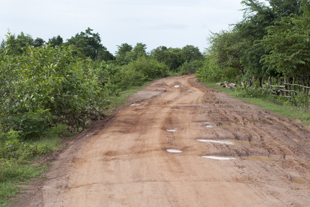 unpaved road: Dirt Road in a countryside