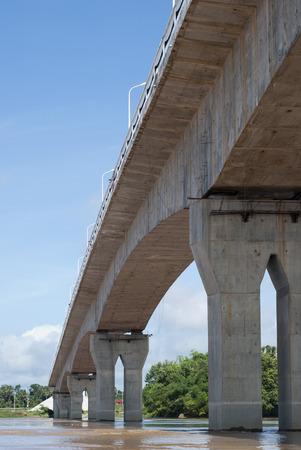 confederation: Thai-Lao Confederation Bridge Archivio Fotografico