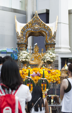 erawan: Erawan Shrine after restoration after the Bangkok Bomb 2015