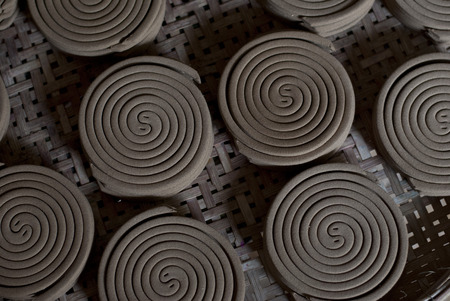 coils: Mosquito coils Stock Photo