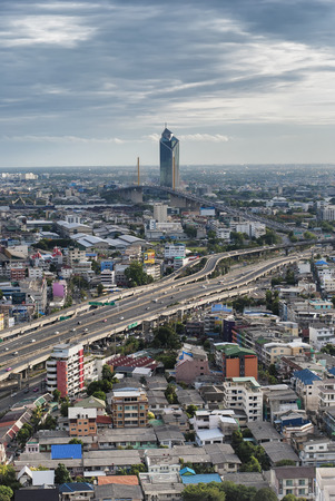 nakhon: Kasikorn Bank Headquarter with Chalerm Maha Nakhon Expressway