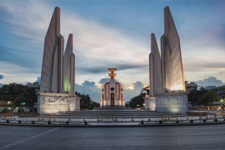 democracy Monument: Democracy Monument, Bangok, Thailand at sunset