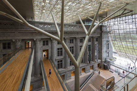 Interior of Singapore National Gallery Singapore, former City Hall of Singapore