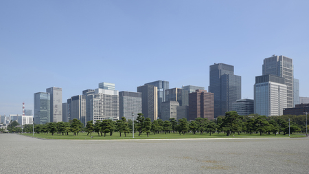 Skyline of Chiyoda, Tokyo seen from Tokyo Imperial Palace