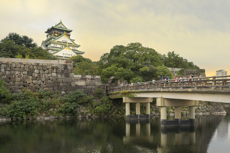 Osaka Castle is a Japanese castle in Chuo-ku, Osaka, Japan. The castle is one of Japans most famous landmarks and it played a major role in the unification of Japan during the sixteenth century of the Azuchi-Momoyama period. Editorial