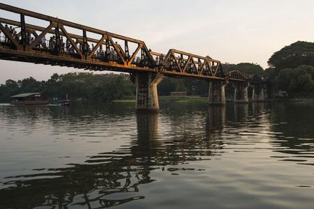 Festival at the Bridge on the River Kwai on December 10, 2016, Kanchanaburi, Thailand