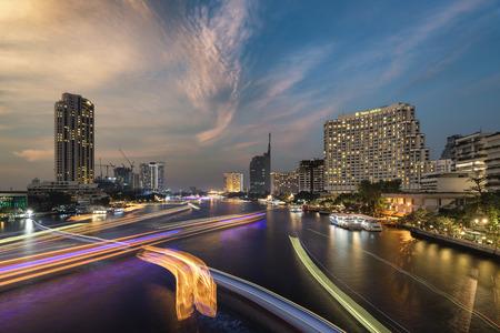 chao phraya: Chao Phraya River view from Saphan Taksin, Bangkok, Thailand Editorial