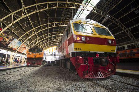 New SRT express train at Hua Lamphong Station, Bangkok, Thailand