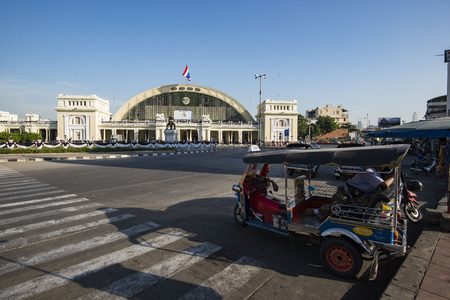 Bangkok Railway Station, unofficially known as Hua Lamphong Station by the State Railway of Thailand.
