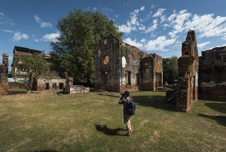 Ban Chao Wichayen, an ancient residence for French envoys, ambassadors of Ayutthaya Kingdom Stock Photo