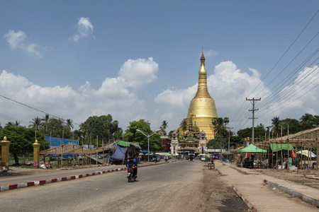 metres: Shwemawdaw Pagoda is a stupa located in Bago, Myanmar. At 114 metres (374 ft) in height, the Shwemadaw holds the record for the tallest pagoda in the country.